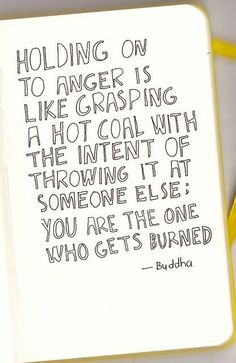 holding onto anger...