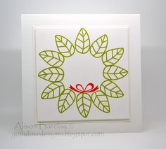 Gothdove Designs - Alison Barclay: Stampin' Up! - Betsy's Blossoms Christmas Wreath