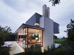 Casas - Houses - Contemporary beach house at Montauk Point Modern Glass House, Contemporary Beach House, Contemporary Homes, Home Design, Modern House Design, Design Art, Design Ideas, Interior Design, Style At Home