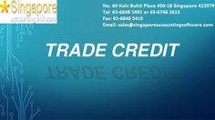 Trade credit #Trade #credit is an arrangement between a seller and a buyer, where the seller allows the buyer to make purchases now and pay at a later date without #incurring an #interest charge. This arrangement allows the buyer to sell the goods and earn sufficient cash to pay off its debt to the seller. A common time period for trade credit is for buyers to pay 30 days after the shipment date. Visit us on www.singaporeaccountingsoftware.com