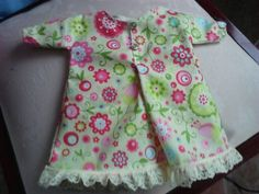 Cute dolls nighty. Home made pattern
