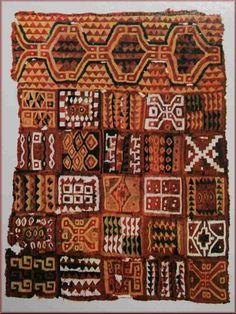 Arte Inca  Los tejidos cumbis Descripción: Los textiles cumplieron un rol importante en la identificación de las clases sociales. Por ejemplo, los tejidos finos, como los cumbis, fueron destinados exclusivamente para la elite incaica y para ofrendas a las divinidades y rituales religiosos