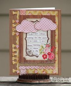 Sweet card made with #Fiskars tools and #GlueArts adhesives. Designed by @Audrey Pettit