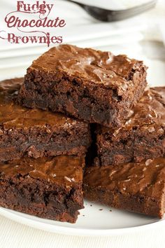 When you want a healthier brownie, try these Fudgy Chocolate Brownies - LindySez | Recipes, Tips, Blog