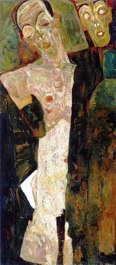 Egon Schiele, 1911, Double self-portrait