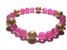 Hot Pink Bracelet Arm Candy with Gold by TwinklePinkJewelry, €5.00