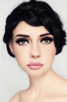 Ben looking for a softer lip, large eye look for my wedding makeup. Maybe this?
