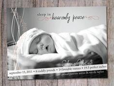 Christmas Card, Birth Announcement, Holiday Card, HEAVENLY PEACE. $15.00, via Etsy.