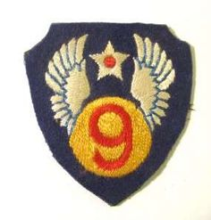 106049995_wwii-us-army-air-corps-9th-air-force-shoulder-patch-.jpg 285×299 pixels - badge patch emblem
