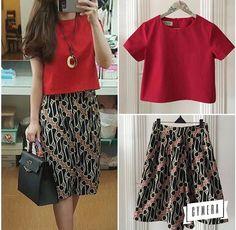 Rok Batik Modern, Blouse Batik Modern, Batik Kebaya, Batik Dress, Model Rok, Mode Batik, Model Kebaya, Batik Fashion, Blouse Models