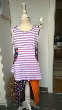 Kleid Frida mit Leggins aus Viskose Jersey (nicht zu empfehlen)