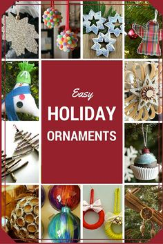 Trim your tree this holiday with a few of these easy, DIY ornament projects. Some of them can even be made with natural elements from the yard or repurposed household objects.