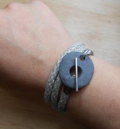 Beach Stone Jewelry Rock Wrap Bracelet / by SeaFindDesigns, $45.00