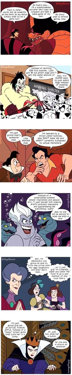 If Disney Villains Were Actually Smart... xD