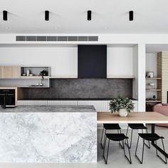 The Design Files: What happened when an interior stylist bought the worst home on the best street Kitchen Design Color, Kitchen Remodel, Modern Kitchen, New Kitchen, Kitchen Island Dining Table, Kitchen Benches, Home Kitchens, Kitchen Style, Kitchen Design