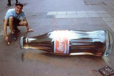 my favorite drink done as sidewalk art