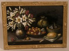 Barrera's Still Life by Christopher Whitford - $395.00 : Swan House Miniatures, Artisan Miniatures for Dollhouses and Roomboxes