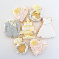 神戸アイシングクッキーレッスン【fiocco】: ウェディングのアイシングクッキー♪