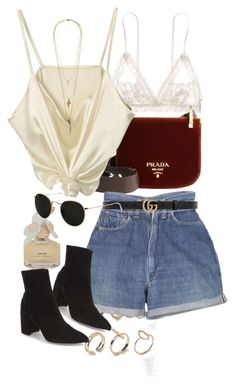 Untitled #10246 by nikka-phillips on Polyvore featuring polyvore, fashion, style, Hanky Panky, Topshop, Prada, ALDO, Lacey Ryan, Ray-Ban, Gucci, Marc by Marc Jacobs, Levi's and clothing
