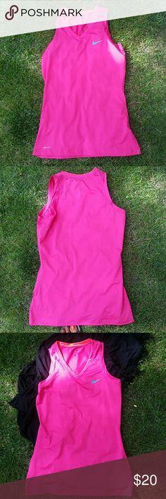 NIKE PRO TANK Size medium. Orange pink. Polyester spandex.  NWOT. Nike Tops Tank Tops