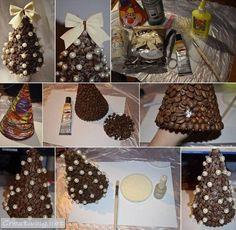 15 идей как сделать конусообразные ёлки своими руками_creativing.net
