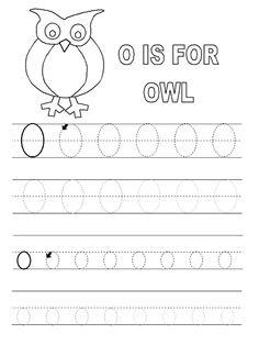 Letter O Worksheet For Alphabet Learning   Dear Joya
