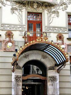 Art Nouveau, Prague, Central Hotel