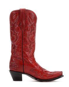 Women's Desert Red Goat Leather Boot - R1952,
