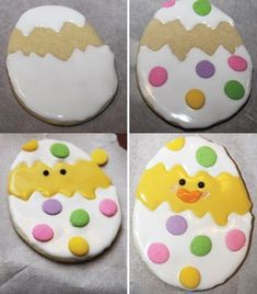 61 Unique Easter Bunny Cookies And Cakes Ideas To Enhance Festivities - Happy Easter - cookies No Egg Cookies, Fancy Cookies, Iced Cookies, Easter Cookies, Sugar Cookies Recipe, Easter Treats, Cookies Et Biscuits, Holiday Cookies, Easter Food