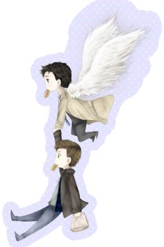 I don't really full out ship Destiel, but you have to admit, some of the fan art is adorable.