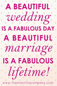 We had our fabulous day--now to build our fabulous lifetime :)