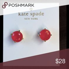 Kate Spade Earrings New Kate Spade Earrings    Color: Sweetheart Pink/Gold Plated 100% AUTHENTIC  No free shipping  Price is firm Includes dust bag kate spade Jewelry Earrings