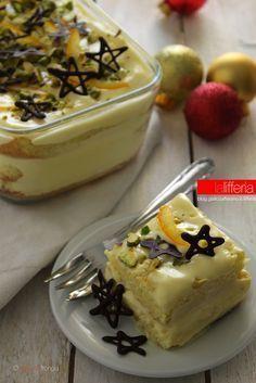 Torta all'arancia cremosa Cold Desserts, Italian Desserts, Cookie Desserts, Sweet Recipes, My Recipes, Cake Recipes, Favorite Recipes, Tiramisu, Orange Dessert