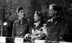 Sergeant John Sweet, Sheila Sim and Dennis Price in A Canterbury Tale, 1944.