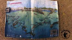 Tauchen Lanzarote - Playa Chica - Die große Tauchbasen Karte, ideal für Briefings