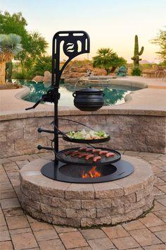 Garden Fire Pit, Diy Fire Pit, Fire Pit Backyard, Best Fire Pit, Back Yard Fire Pit, Fire Pit Grill, Outside Fire Pits, Fire Pit Area, Outdoor Fire Pits