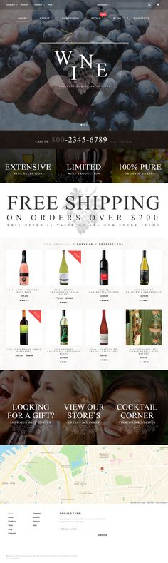Wine is Premium Responsive WordPress Theme. Parallax Scrolling. WooCommerce. Isotope. If you like this #Winery Theme visit our handpicked list of best WordPress #Wine Themes at: http://www.responsivemiracle.com/best-responsive-wordpress-wine-theme/
