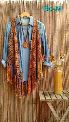 Crochet Cardigan, Knit Or Crochet, Crochet Scarves, Crochet Doilies, Crochet Clothes, Vest Pattern, Crochet Pillow, Square Patterns, Crochet Woman