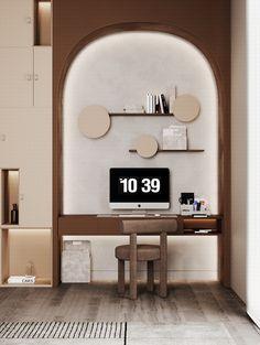 Shelf Design, Wall Design, Kids Bedroom, Bedroom Decor, Neoclassical Interior, Study Areas, Reception Rooms, Home Office Design, Kid Beds