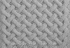 Free Basket Weave Aran Stitch knittng pattern. Abbreviations: k = Knit p = Purl c6f = (cable 6 front)- slip 3 stitches to a cable needle and hold at the front of the work, knit 3, then knit the 3 stitches from the cable needle. c6b = (cable 6 back)- slip 3 stitches to a…