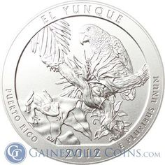 2012 5 oz Silver America The Beautiful - El Yunque #coins http://www.gainesvillecoins.com/buy-silver.aspx