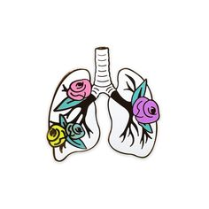 Image of ANATOMY BLOOM – LUNGS Limited Edition pin