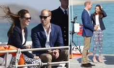 William and Kate enjoy a boat trip on the Scilly Isles
