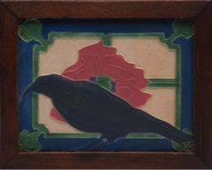 Rookwood Pottery Rook Tile. Arts and Crafts Movement. www.treadwaygallery.com