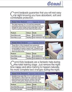 Adult Incontinence Bed Pads  Western Cape, South Africa.    Contact Conni-Western Cape (Pty) Ltd.  Adult Incontinence Products  Western Cape, South Africa  Call: 081 772 6015  Email: JP.vZ@Conni.co.za