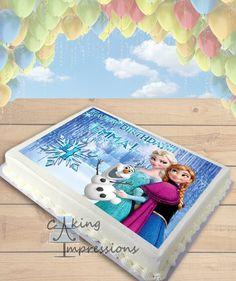 Frozen Elsa, Anna, and Olaf Edible Image Cake Topper [SHEET]