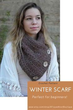 Scarf Crochet Pattern/ Winter Scarf/ Winter Scarf Crochet/ Infinity Scarf Crochet/ Cowl Scarf/ Scarves Crochet Easy/ Cowl Crochet Pattern