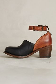 Two toned with a great stacked heel.