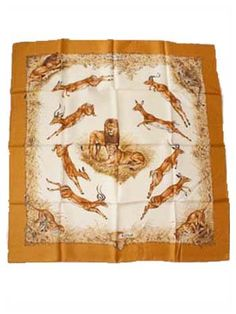 Vintage Hermes Silk Scarf Carre Kenya by Dallet