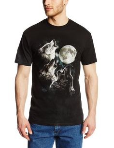 The Mountain Men's Three Wolf Moon Short Sleeve Tee,Dark Green,X-Large by The MountainTake for me to see The Mountain Men